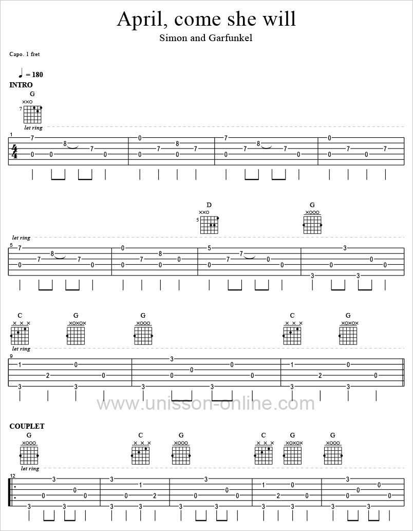 April-come-she-will-Simon-et-Garfunkel-Tablature-Guitar-Pro