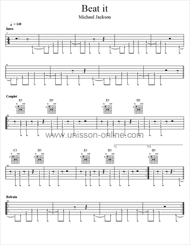 partition guitare pro gratuite