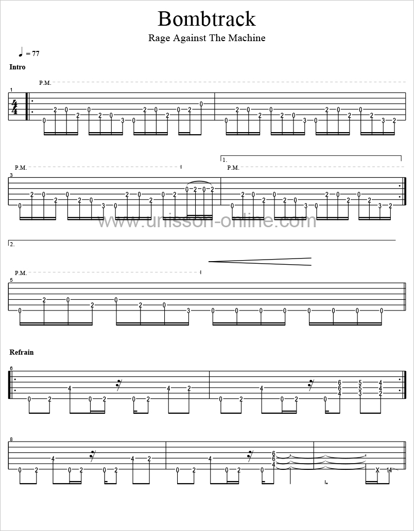 Bombtrack-Rage-Against-the-Machine-Tablature-Guitar-Pro