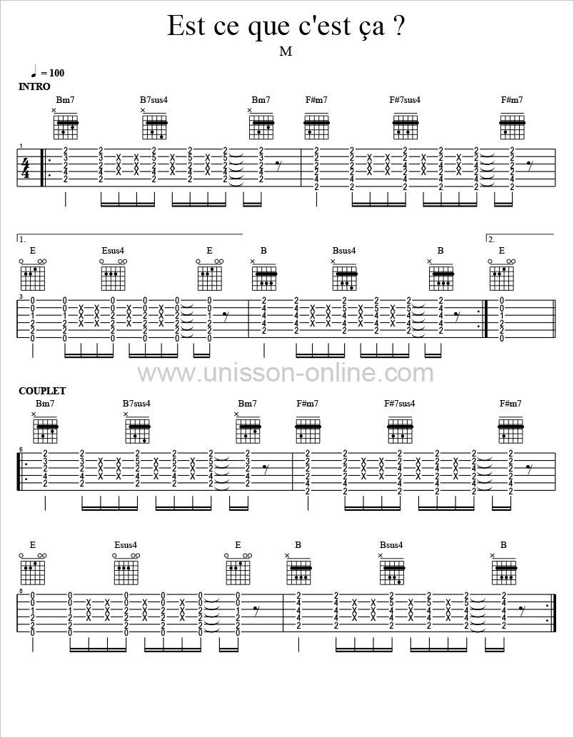 Est-ce-que-cest-ca-M-Tablature-Guitar-Pro