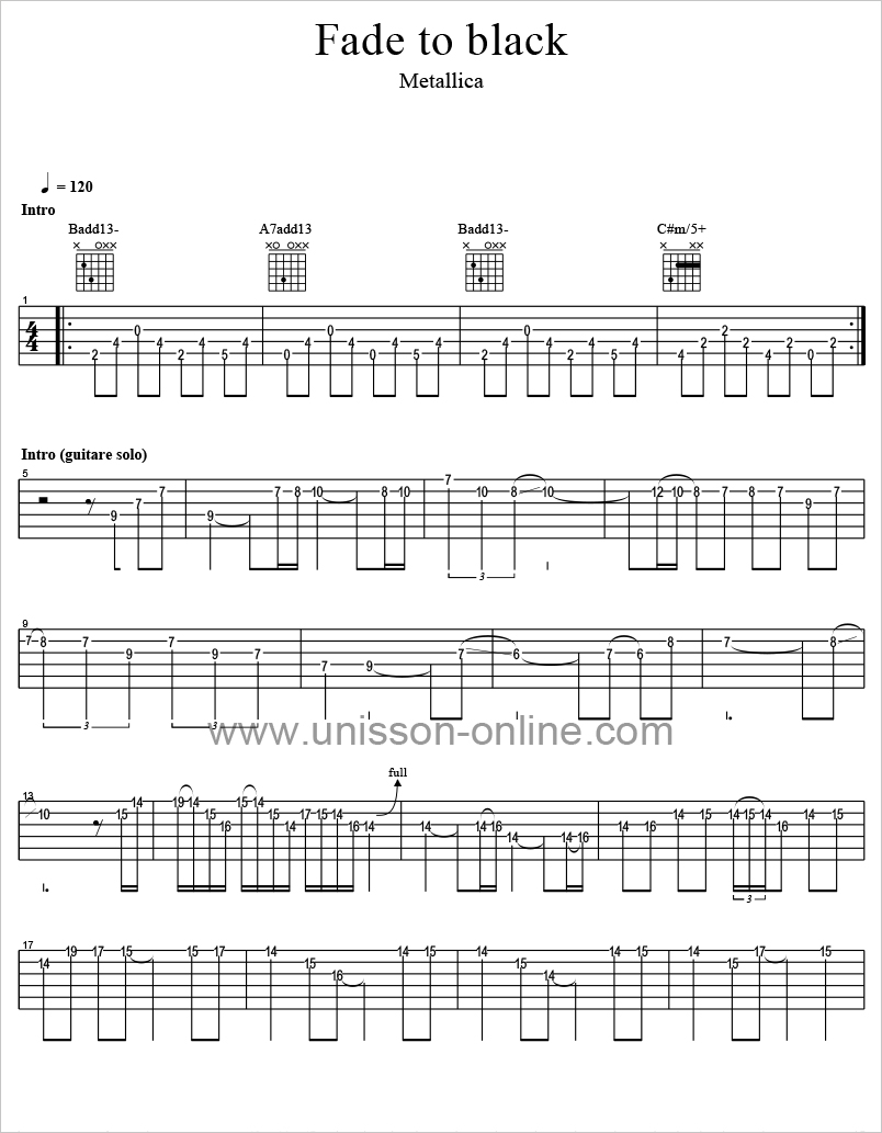 Fade-to-black-Metallica-Tablature-Guitar-Pro