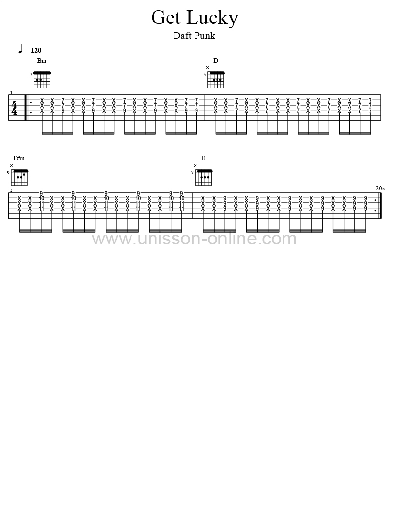 Get-lucky-Daft-Punk-Tablature-Guitar-Pro