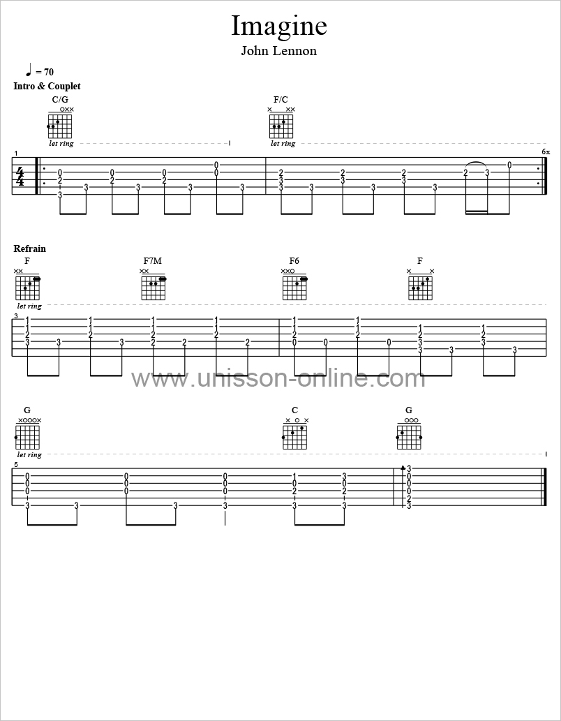 Imagine-John-Lennon-Tablature-Guitar-Pro