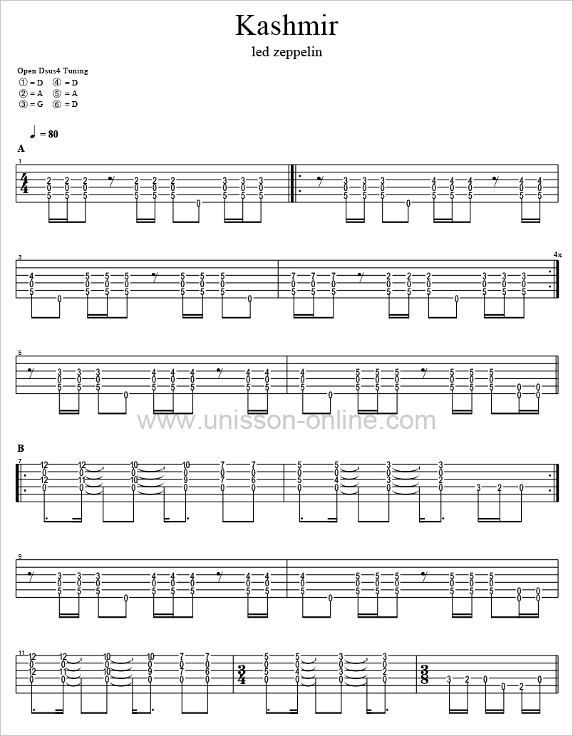 Kashmir-Led-Zeppelin-Tablature-Guitar-Pro