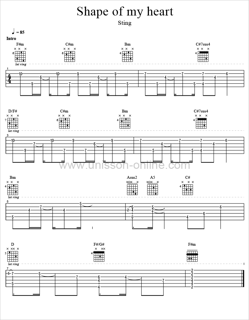 Shape-of-my-heart-Sting-Tablature-Guitar-Pro