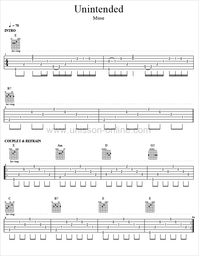 Tablatures guitar pro muse : My-Rome...