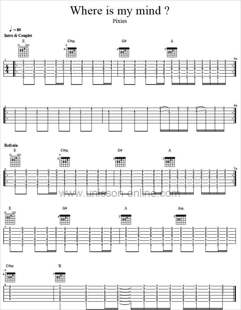 Where-is-my-mind-The-Pixies-Tablature-Guitar-Pro