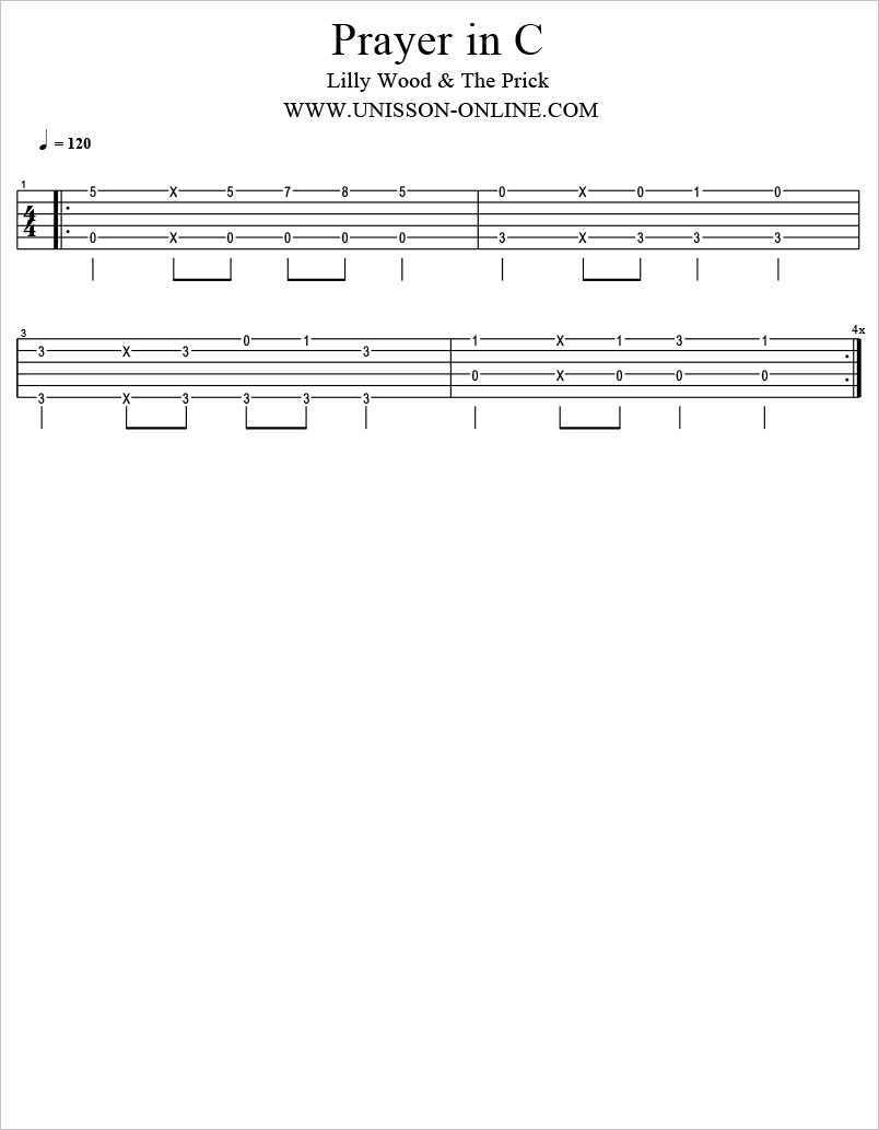 Prayer-in-C-Lilly-wood-and-the-prick-Tablature-Guitar-Pro