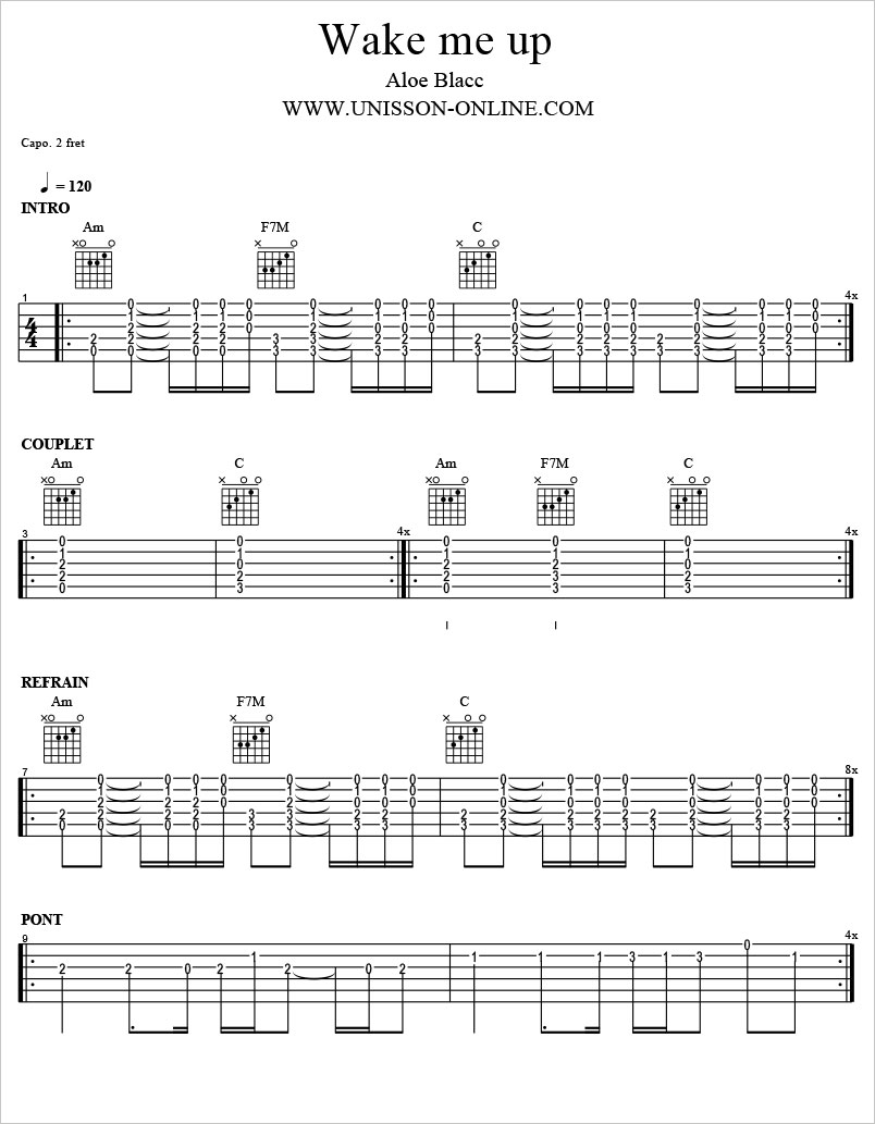 Wake-me-up-Aloe-blacc-Tablature-Guitar-Pro