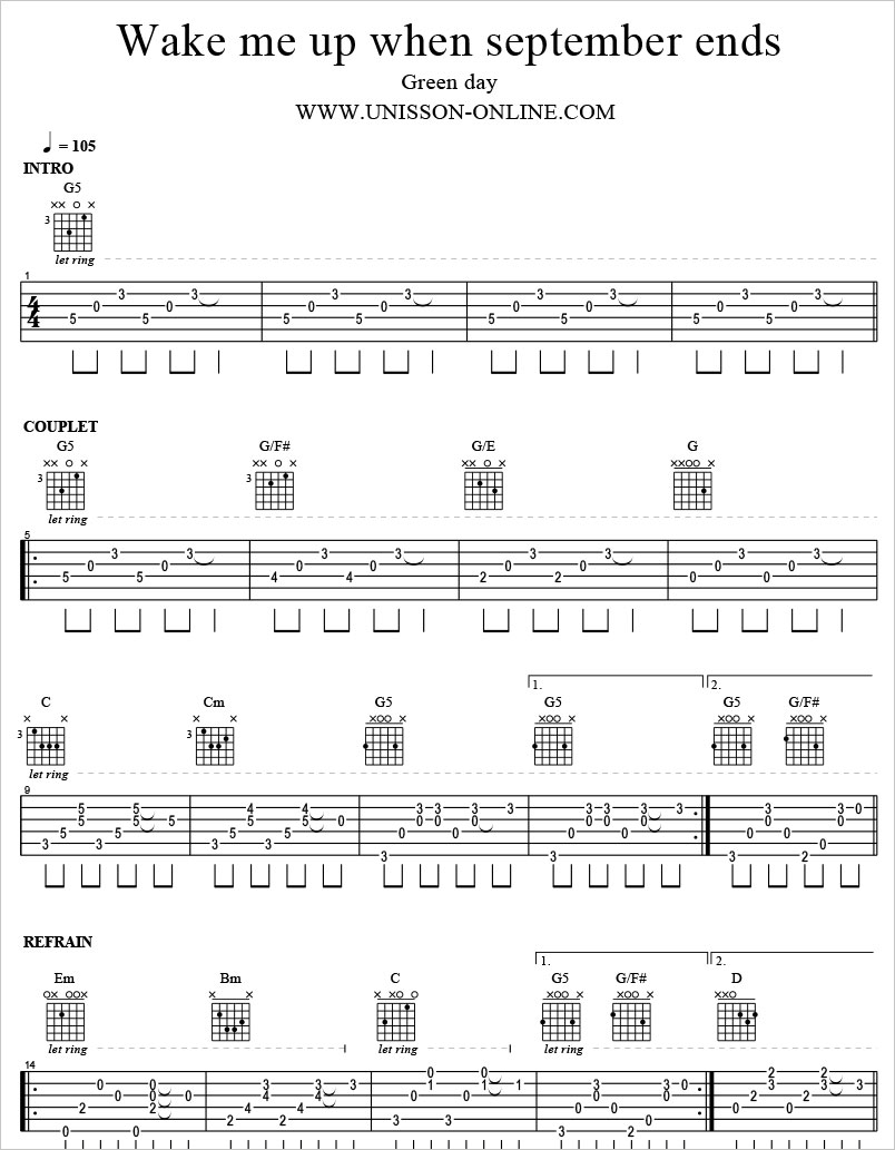 Wake-me-up-when-september-ends-Green-day-Tablature-Guitar-Pro