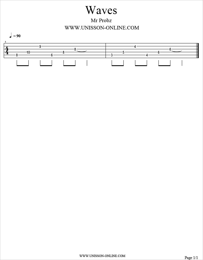 Waves-Mr-Probz-Tablature-Guitar-Pro