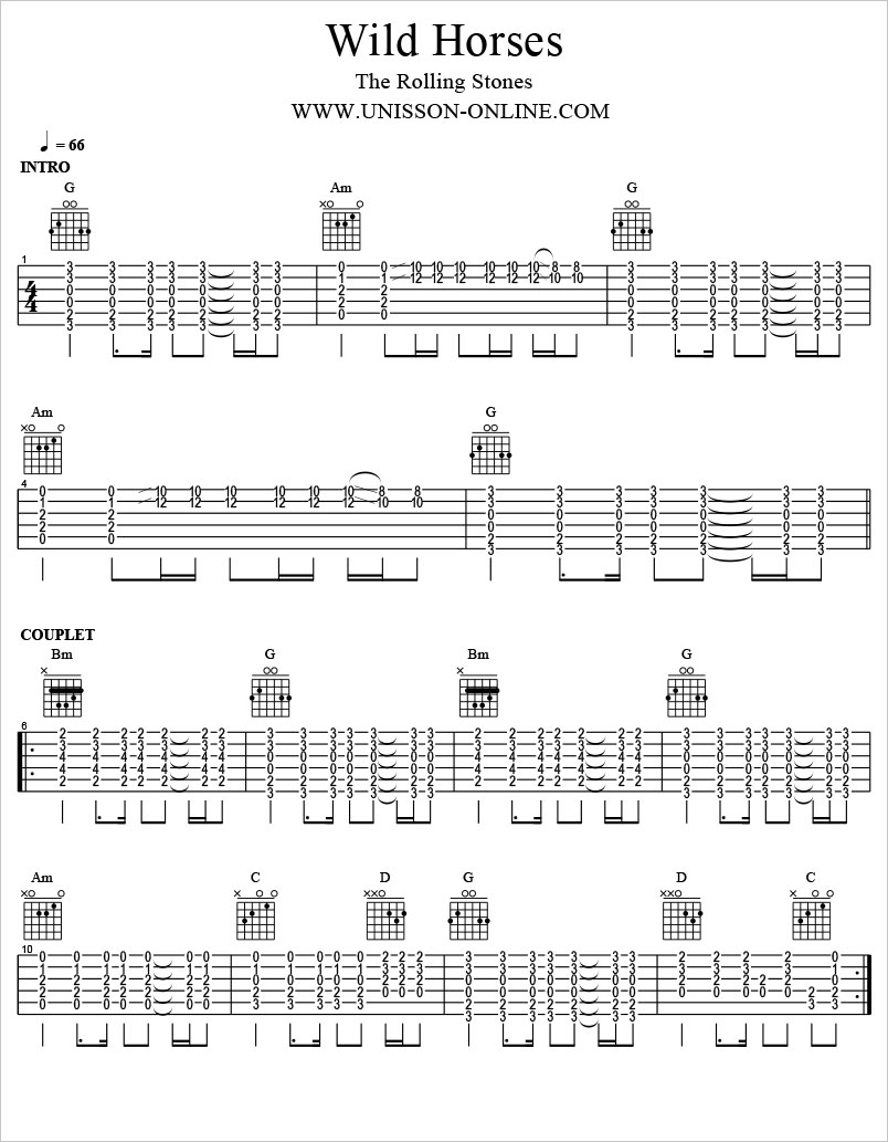 Wild-horses-The-Rolling-Stones-Tablature-Guitar-Pro