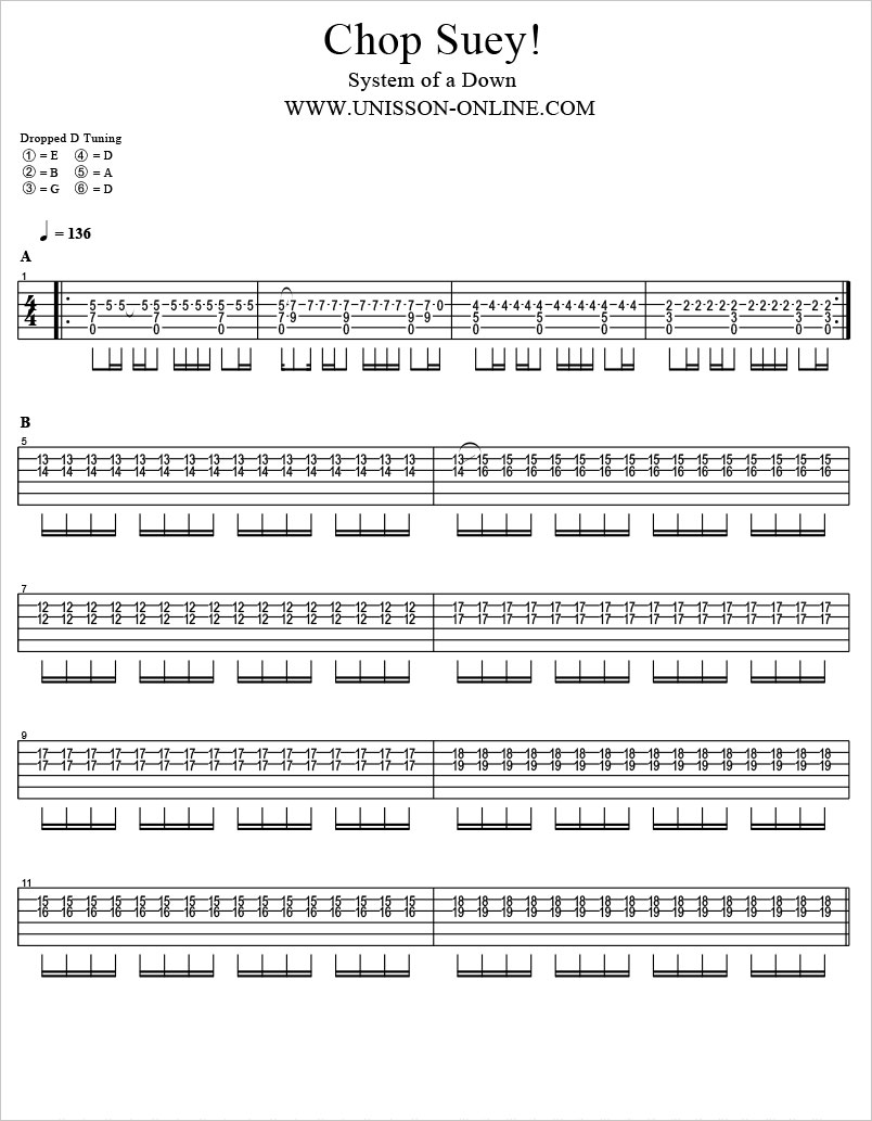 Chop-suey-System-of-a-down-Tablature-Guitar-Pro